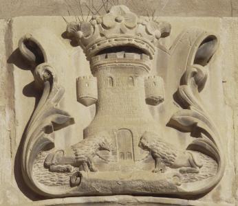 escudo de la iglesia de Castelserás